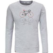 Bike Shape Pullover - Heather Grey - M